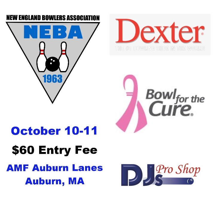October 10-11 Dexter $60 Entry Bowl for the Cure Singles presented by DJ's Pro Shop in AMF Auburn Lanes